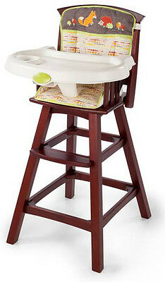 Summer Infant Fox & Friends Classic Comfort Wood High Chair Espresso - 732315
