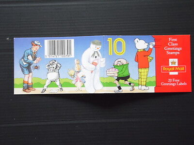 GB 1993 Greetings Stamps Barcode Booklet - KX 5 ---FV £6.40 ---Cat £12.00