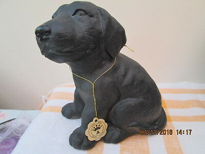 """Alfretto Collectors Series Porcelain Black Labrador - Foreign Height 5"""" Sitting"""
