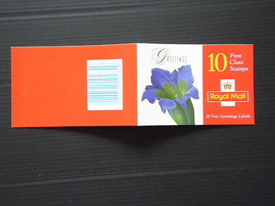 GB Greetings Stamps booklet  KX9 10 x 1st fv £6.40 cat £12
