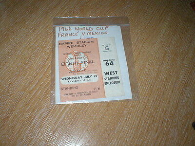1966 World Cup Ticket  France  V Mexico
