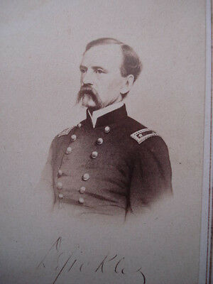 Civil War Engraved CDV-General Daniel Sickles-Gettysburg-American New Company