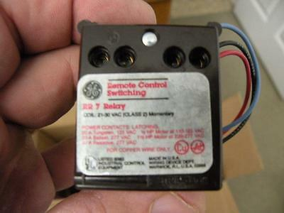 Ge Rr7 Latching Relays 21-30 Vac Class 2 Momentary Free Shipping