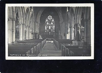 Worsley, Manchester, Worsley Church, Lancashire, Real Photographic Postcard, RP