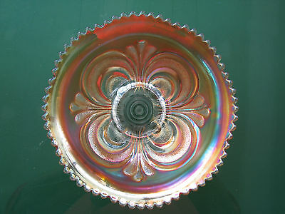 Marygold Carnival Glass Bowl 20cm Diameter Imperial Scroll Embossed