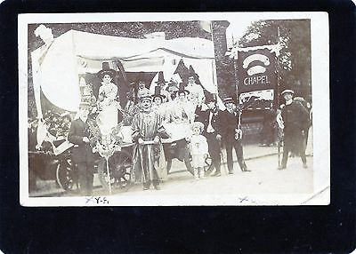 Eccles, Salford, Manchester, Welsh Chapel Float, Real Photographic Postcard, RP