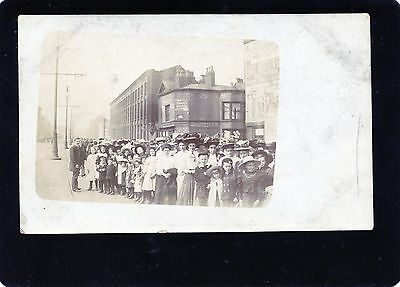 Salford, Manchester, Windsor Bridge Procession, Real Photographic Postcard, RP