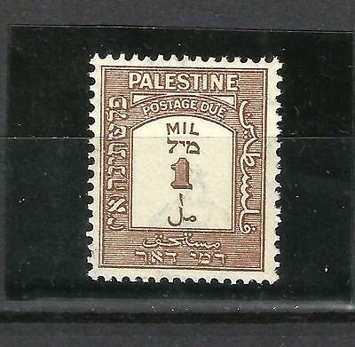 Palestine 1928, scarce 1 mil p 15x14, SG D12a in UM mint never hinged condition.