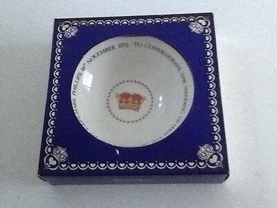 Commemorative dish: THE WEDDING OF PRINCESS ANNE TO CAPT. MARK PHILLIPS: Bone Ch