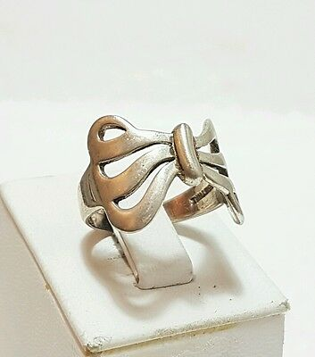 925 Genuine Sterling Silver Women's Ring Size Uk R  No  Stone