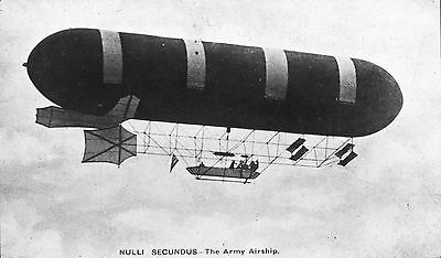 Vintage Glass Magic Lantern Slide of the History of Flying set 1 26 Army Airship