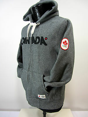 Hudson Bay Co. Canada Olympic 2010 Men's S or Women's M Gray Full Zip Hoodie