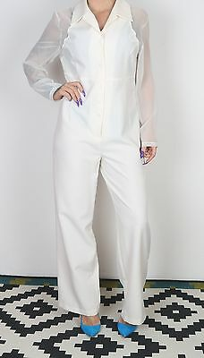 Jumpsuit UK 12-14 Medium Large approx. 1970's Plain 70's All in one   (2AN)