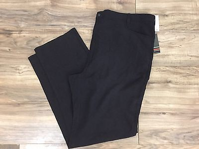 Axis Men's Pants 100% Silk Size 50 New NWT Black Pockets Casual