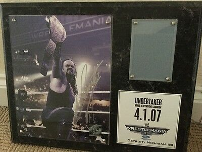 WWE The Undertaker Signed Wrestlemania 23 Plaque