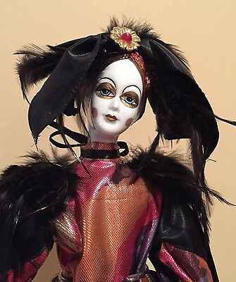 Preowned Beautiful Ceramic Porcelain Clown Doll By Victoria Impex Corp