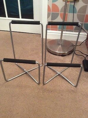 IKEA Folding Silver Metal Speaker Stands X2