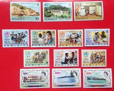 COMMONWEALTH -1972/74 DOMINICA MMINT (4) Stamps/Sets***(3)