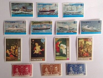 COMMONWEALTH -1947/75 DOMINICA MMINT (8) Stamps/Sets***(3)