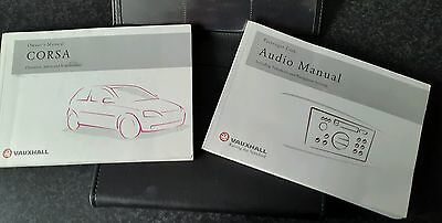 Corsa C owners manual and audio manual in folder