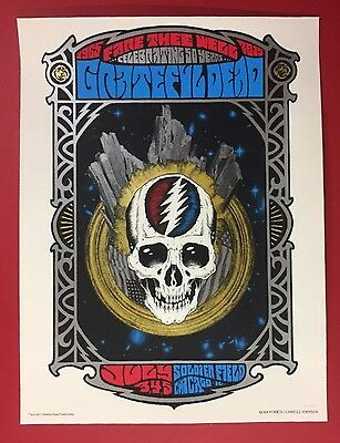 Grateful Dead Chicago Poster Print Alan Forbes 7/3 4 5/15  Fare Thee Well Gd50