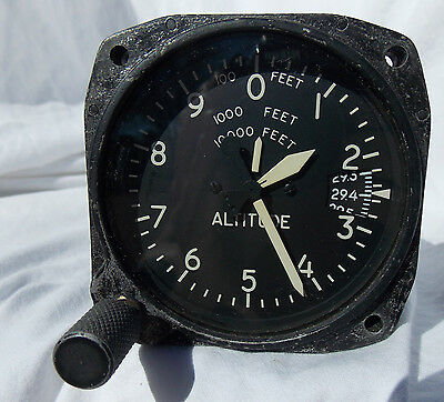Civilian Aircraft Altimeter Indicator Gauge Instrument Similar to AAF  Type C-12