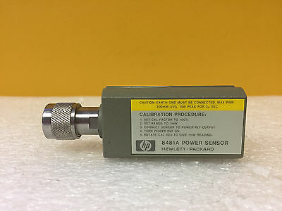 HP / Agilent 8481A 10 MHz to 18 GHz -30 to +20 dBm Power Sensor TESTED!