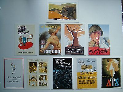 Ten Imperial War Museum  Wartime Poster -  Postcards In Mint Condition
