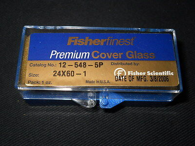 (<1oz) Fisherfinest 24 x 60mm Premium Cover Glass, 0.13 - 0.17mm Thick