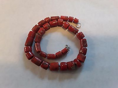 Antique Natural Untreated 18 inch Yemen Coral Bead Necklace