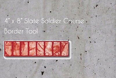 """NEW 4"""" x 8"""" Slate Soldier Course Border Concrete Stamp Tool Mat FREE SHIPPING"""