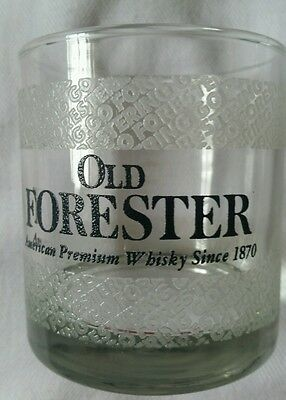 VINTAGE - 4 - Old FORESTER AMERICAN PREMIUM WHISKEY GLASSES - LOW  BALLS -  L@@K