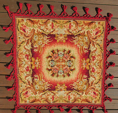 Beautiful Victorian Crush Chenille Tapestry Table Cover Shawl