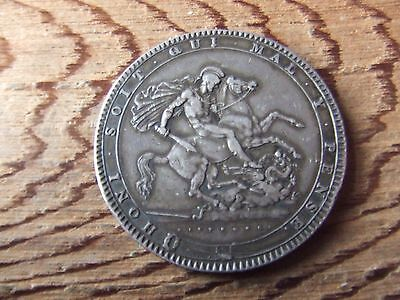 George Iii. 1820, Lx  Silver Crown.    Excellent Condition.