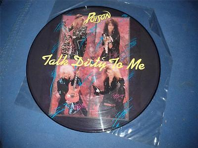 """Poison Talk Dirty To Me 12"""" Vinyl Picture Single Pi2Kut125 Nr Free Uk Post"""