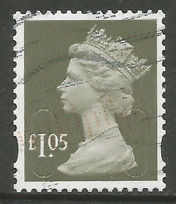2016 SECURITY FEATURES £1.05p BROWN DATE CODE M16L - FINE POSTALLY USED AS SCAN