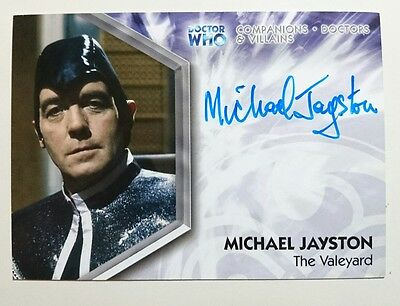 Dr Doctor Who Trilogy Auto Card DWT-A12 Michael Jayston as The Valeyard