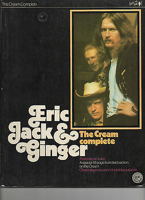 The Cream Complete Eric Jack & Ginger Piano Vocal Guitar 1974