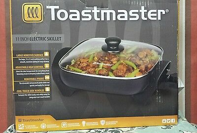 Toastmaster 11 Inch Electric Skillet Nonstick surface Adjustable Heat  NEW
