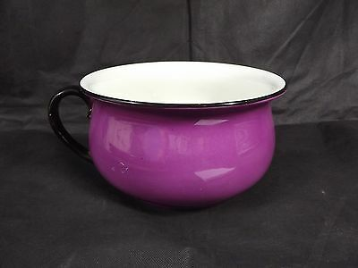 Sale 50 % Off !!!  Cauldon Vintage / Antique Chamber Pot Purple With Black Rim