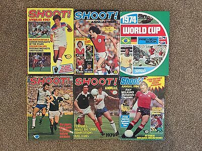 Vintage Shoot Football Annuals & 1974 World Cup Preview Book