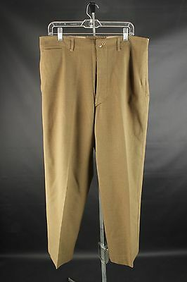 Vtg Men's WWII Uniform Wool Dress Pants sz Large 36x29 #2285 WW2