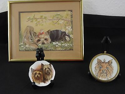 Sale 50% Off !!!    Yorkshire Terrier Yorkie Collection Print Pin Dish & Picture