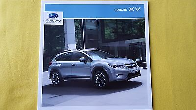 Subaru XV SE Premium D 2.0 paper brochure sales catalogue 2015 MINT 4x4 X V