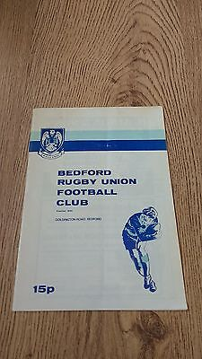 Bedford v Ebbw Vale 1981 Rugby Union Programme