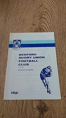 Bedford v Llanelli 1980 Rugby Union Programme