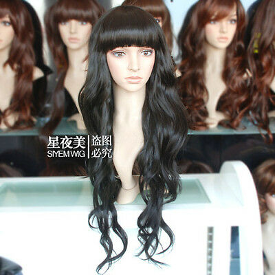 HE-J1062  this year  popular long black curly health hair wigs for women wig