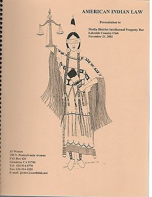 2002 Native American Indian Law History Current Data Presentation Guide Book