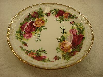 "Royal Albert OLD COUNTRY ROSES 4-3/4"" Coaster Made In England TR8"