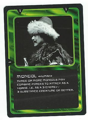 Doctor Who Black Border CCG Card Mongol Green Background Human Card Good